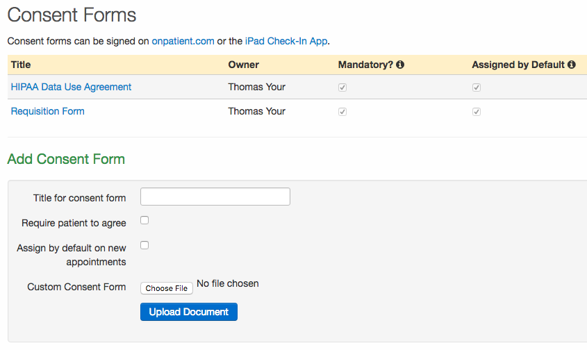 Consent Forms: Uploading and Setting Up New Forms – drchrono ...